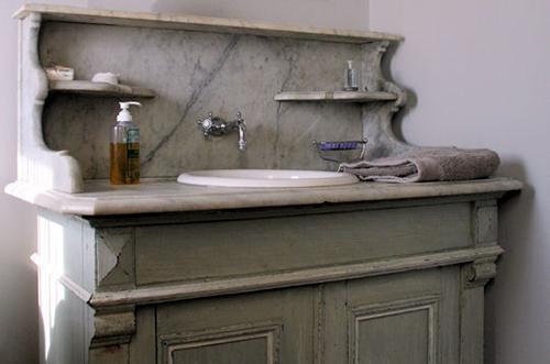 бабушкин буфет для ванной стиля прованс