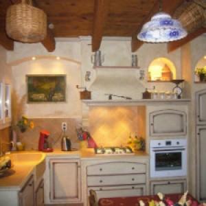 пастельный тон в интерьере кухни