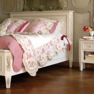 розовая спальня в стиле прованс фото