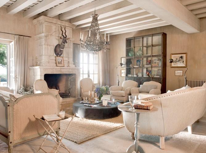 мебель в гостиной прованса
