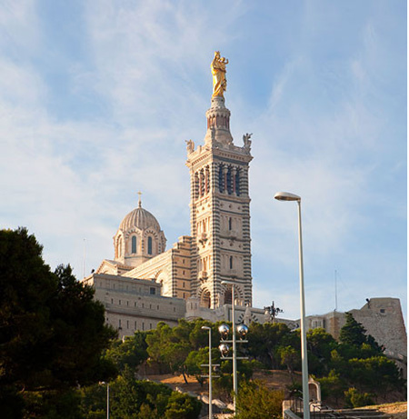 звонница базилики Марсель достопримечательности
