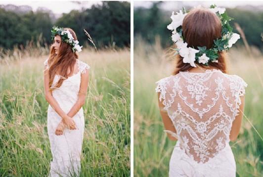 платье невесты в стиле прованс