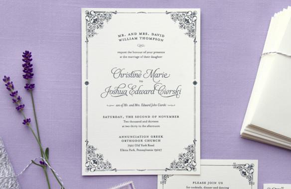 свадебные приглашения в стиле прованс