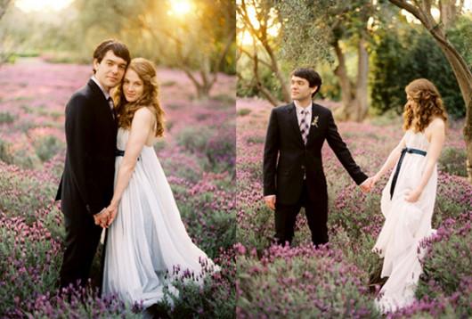 костюмы жениха и невесты в стиле прованс