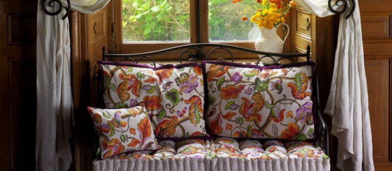 Оформление окна в стиле Прованс.  Взаимосвязь текстиля и дизайна окна.
