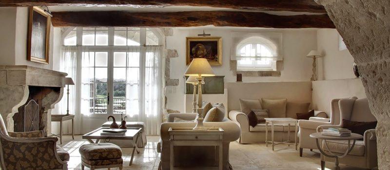 Настроение и дух Франции в гостиных стиля прованс