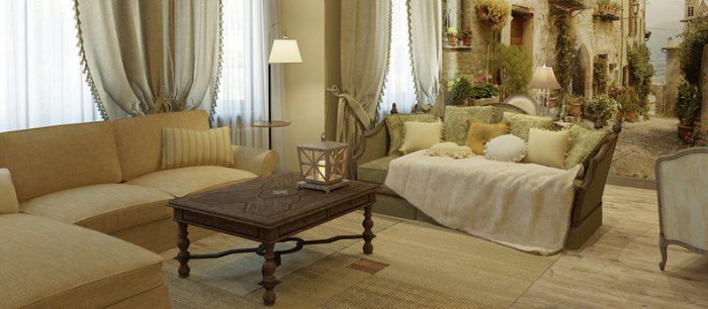 Дизайн гостиной в стиле прованс: шарм французского кантри