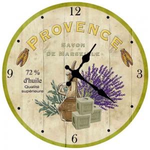 настенные часы на кухне в стиле прованс