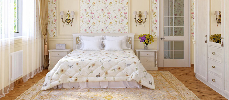 Романтические нотки в спальне: интерьер в стиле прованс