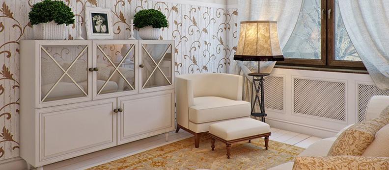 Изящный прованс в современной гостиной