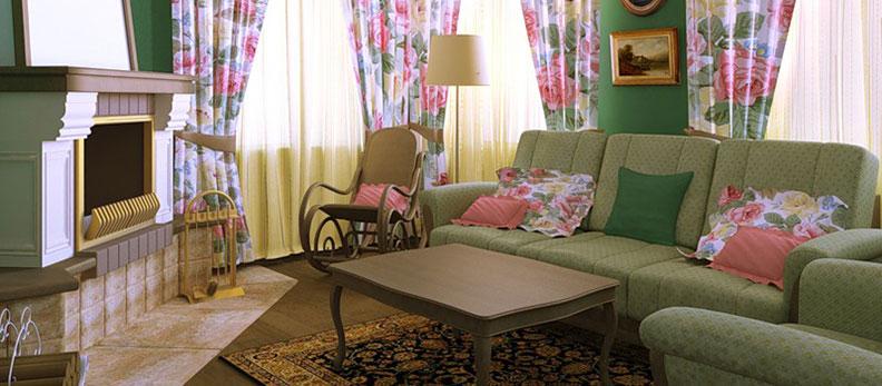 Дизайн гостиной в стиле прованс: изысканность и французский шарм