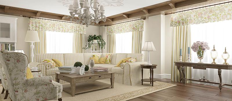 Дизайн гостиной в стиле «прованс» и его особенности